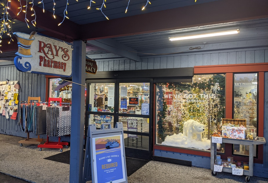 caption: Ray's Pharmacy on Orcas Island is one of the places that will be administering the new Covid-19 vaccines
