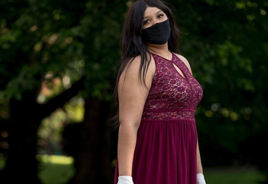 caption: Aaliyah Dade, 18, Wakefield High School in Arlington, Va.