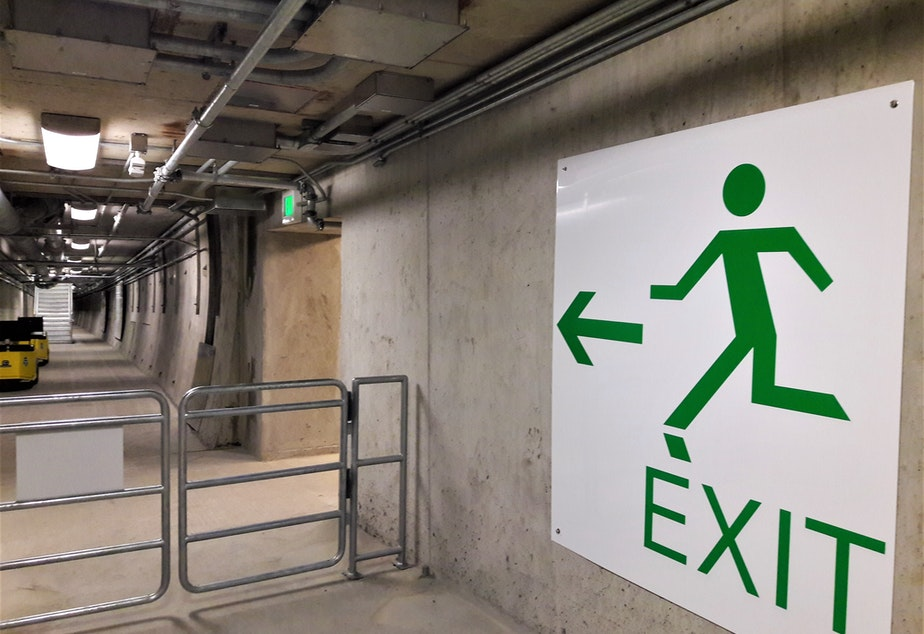 There are 32 emergency exits in the tunnel and 160 emergency phones that direct to 911.