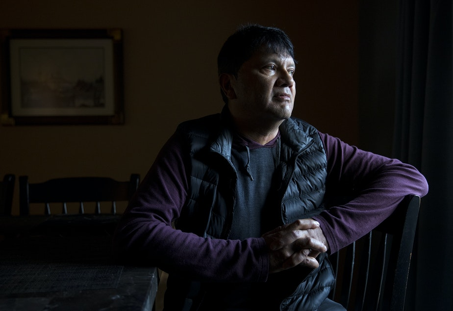 caption: : Upper Skagit tribal member Scott Schuyler is portrayed on Friday, November 8, 2019, at his home in Mount Vernon.
